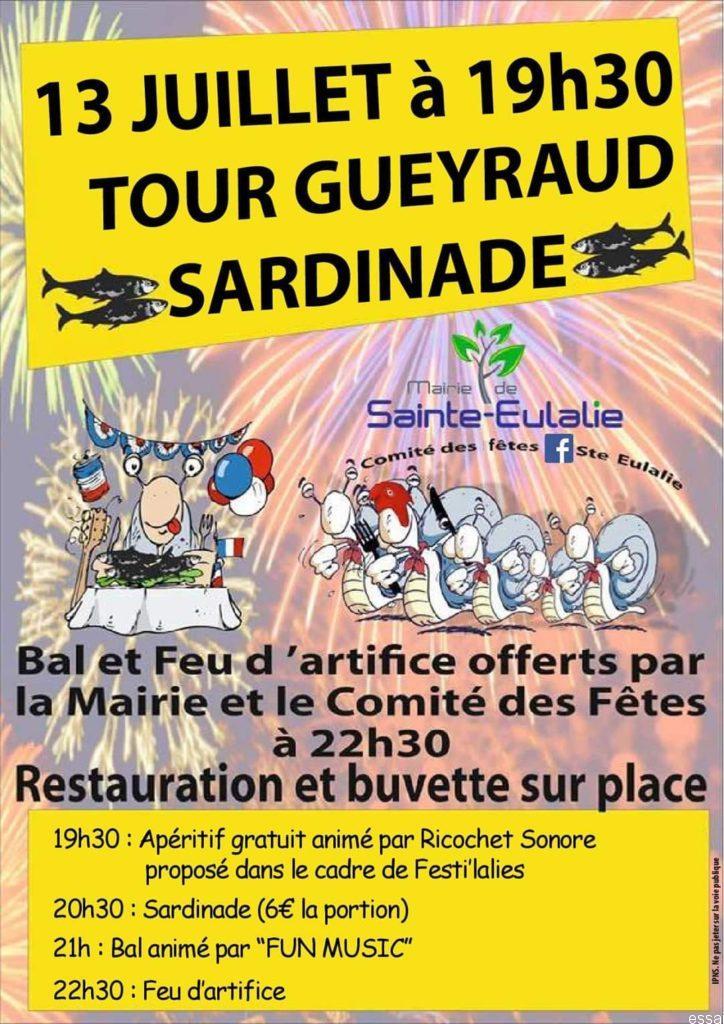 Sardinade et 14 juillet de Sainte-Eulalie - Comité des fêtes de Sainte Eulalie